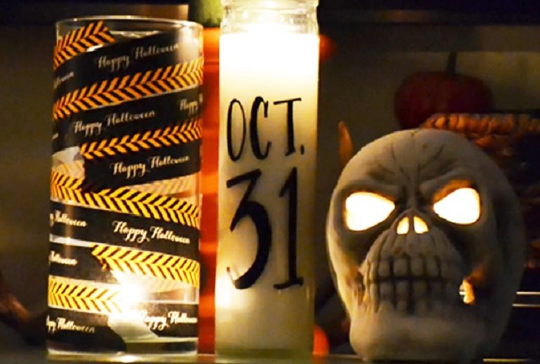 Φτιάξε τα πιο freaky κεριά για το Halloween