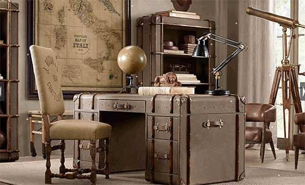 Γραφείο σε σπίτι σε Vintage Style
