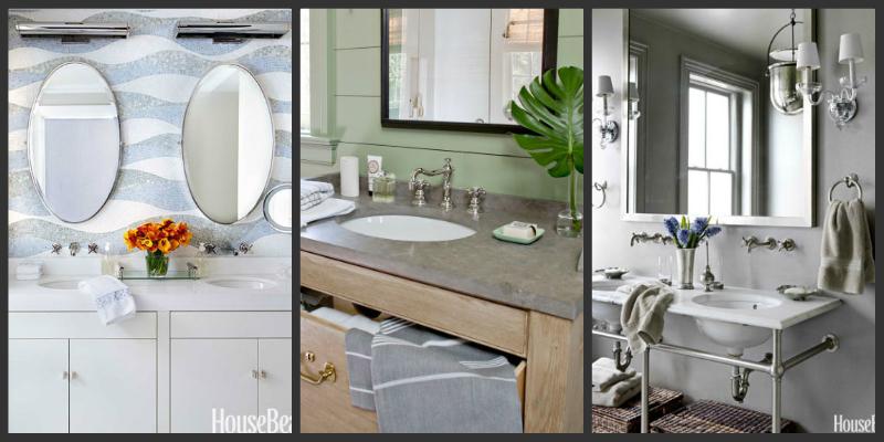 Ιδέες για να φαίνεται το μπάνιο σας μεγαλύτερο!