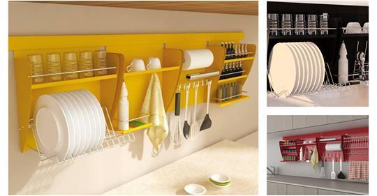 Γουστόζικοι αποθηκευτικοί χώροι για τα σκεύη της κουζίνας!