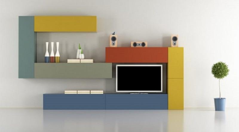 Πολύχρωμες μονάδες τοίχου για το σαλόνι σας!