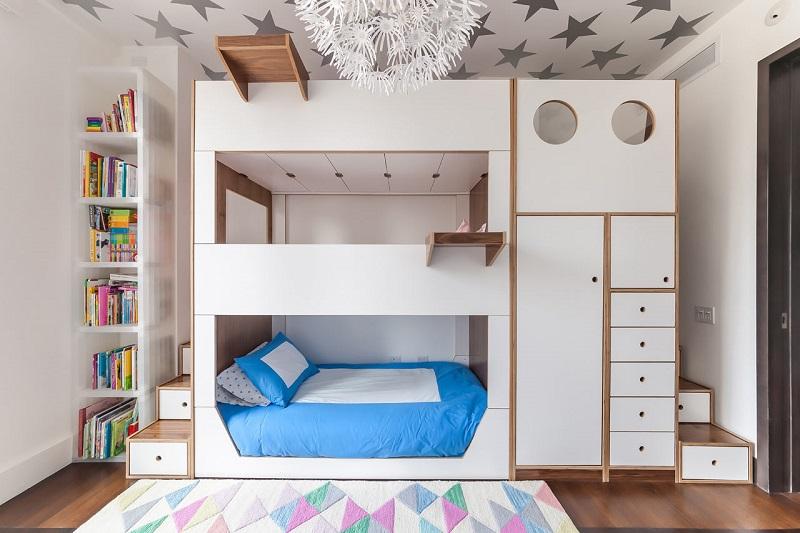 Τρίκλινο κρεβάτι - κουκέτα για παιδιά!