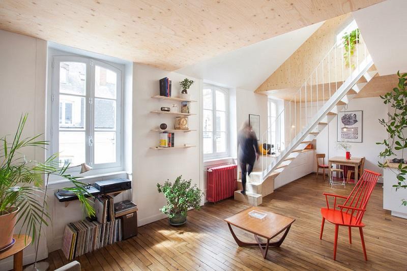 Διαμέρισμα στη Γαλλία με δύο νέες ενσωματωμένες σοφίτες!