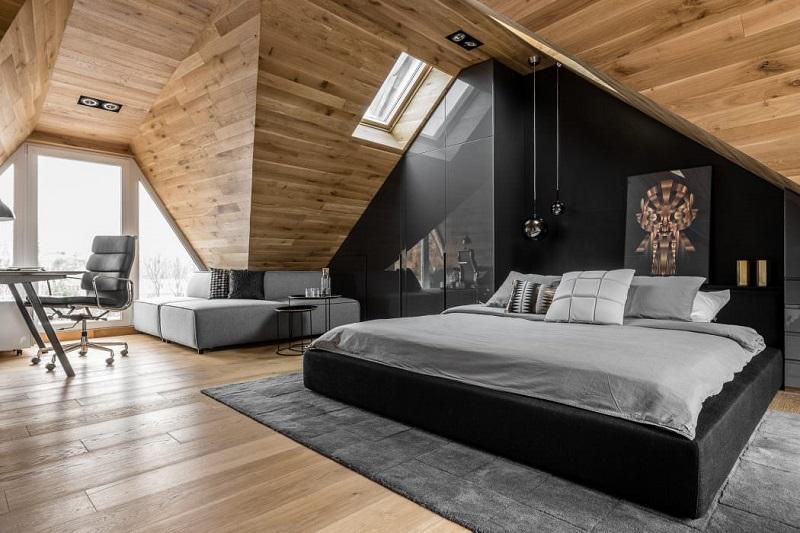 Ένα σύγχρονο μινιμαλιστικό υπνοδωμάτιο σοφίτα!