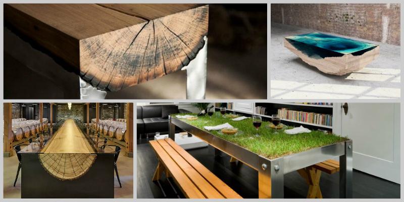 Εντυπωσιακά μοντέρνα τραπέζια!